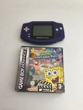 Nintendo Gameboy Advance Purple Console With Game FAST FREE UK PP