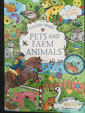 DOODLE MAGIC PETS AND FARM ANIMALS ~ Childrens doodle colouring book. Great Gift