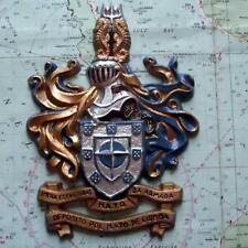 Lisbon Nato : Portuguese Navy Ship Metal Tampion Plaque Crest