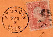 STURGIS MICH MAR 9 1869 Sc#94 to Miss Emma Anthony Bedford MI