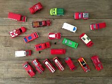 Collectible - Hot Wheels & Matchbox Fire Rescue Vehicles - Lot of 22
