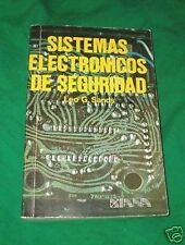 1974 ELECTRONIC SECURITY ALARM SYSTEM SPANISH BOOK ESPANOL SISTEMAS ELECTRONICOS