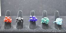WHOLESALE LOT 5 PCS MIX COLLECTION COSTUME JEWELRY RINGS TU-020 US-SELLER