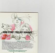 Arab Strap-The Last Romance UK promo cd album