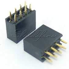 10PCS 2x4 Pin 2.54mm Double Row Female Straight Header Pitch Socket Pin Strip A