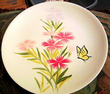 "4 VINTAGE ESTATE HAND PAINTED RED WING  75th ANNIVERSARY 11"" PLATES PINK SPICE"