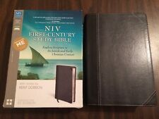 NIV 1st First Century Study Bible - $79.99 Retail - Black / Charcoal Duo Tone