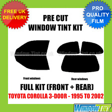 TOYOTA COROLLA 3-DOOR 1995-2002 FULL PRE CUT WINDOW TINT KIT