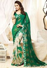 New Designer Bollywood Saree Indian Saree Fabric Saree Georgette Party Wear Sari