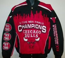 Chicago Bulls 6 Time NBA Finals Champions Twill Jacket - Large Free Ship