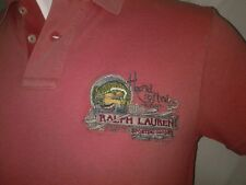 Vtg Ralph Lauren Polo Sporting Goods Handcrafted Canoe Outdoor Fish Shirt M