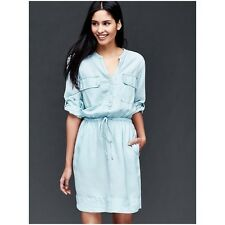 NWT SOLD OUT GAP utility chambray denim shirt dress L 10 12 14 NEW! Fall trend