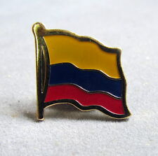 Colombia Flag Pin, Red, White and Green, Metal, Badge, Souvenir 3/4""