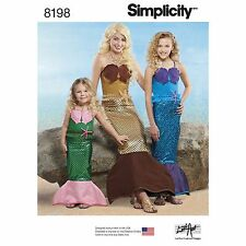 Simplicity 8198 Child's, Girls' & Misses' Mermaid Costumes, Sewing Pattern.