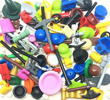 LEGO 50 Minifigure Accessories Pieces Parts Weapons Tools Hats Special Bundle