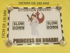 Princess Leia Princess On Board Car Laminated Sign