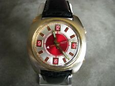 Rare Vintage Mentor Swiss Made Mechanical Alarm Watch Serviced