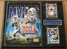 PEYTON MANNING COLTS FRAMED 8 X 10 FOOTBALL PHOTO + CARDS-SIGN-MAN CAVE ART