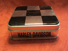 Harley-Davidson Tin with 8 H.D. Magnets  Chrome and Black    W-03