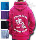 HORSE RIDING HOODIE PERSONALISED HOODIE Children's & Adult's SHOW JUMPING