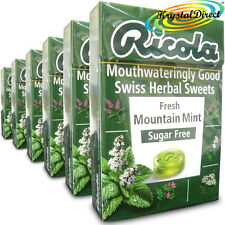 6x Ricola Fresh Mountain Mint Swiss Herbal Drops Lozenges Sweets Sugar Free 45g