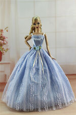 Blue Fashion Princess Party Dress/Evening Clothes/Gown For Barbie Doll S315
