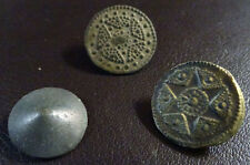 3 SMALL ANTIQUE BUTTON CENTURY XVIII OLD BOUTON BUTTON BOTON SEE MY SHOP CCB25
