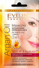 EVELINE ARGAN OIL - INTENSELY REJUVENATING Face Mask 3 IN 1 ANTI-AGEING sos lift