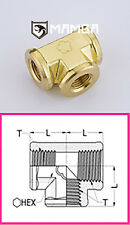 Brass Adapter Fitting Union Tee 1/8 BSP Female to 1/8 BSP Female (50 pcs)