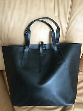 New GWP Saks 5th Avenue Tote Shopper Bag Black Faux Leather