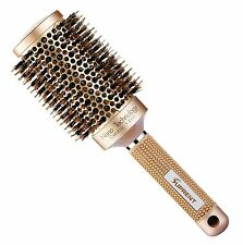 SUPRENT Nano Thermal Ceramic & Ionic Round Barrel Hair Brush with Boar Bristle,