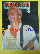 Rivista MUCCHIO SELVAGGIO 94/1985 Sting Bryan Adams Billy Bragg Tuxedomoon No cd