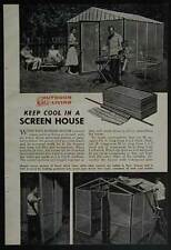 Screen House Portable Wooden Frame How-To Build PLANS