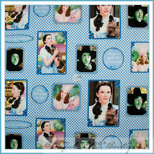 BonEful Fabric FQ Cotton Quilt Wizard of Oz Dorothy Dog Check Block Blue Gingham