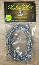 Wicked Wire Halloween Fake Barbed Wire Special Effects Decoration Silver 12 Foot