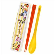 Disney Store Japan Winnie the Pooh Chopsticks & Spoon w/ Case Set Bento[71]