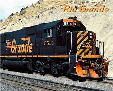 Denver & Rio Grande Western SD50 Sturdy Metal Sign Logo Photo