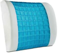 Gel Pillow Lumbar Support Cooling Memory Foam Travel Cushion Back Pain Rest OL2