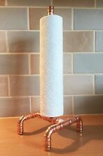 Kitchen Roll Holder Stand Steampunk Copper Pipe Vintage Industrial Funky Retro