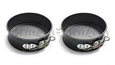 2 MINI SMALL ROUND SPRING FORM BAKING TIN LOOSE BASE BOTTOM 12CM CAKE TRAY DISH
