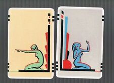 Playing Swap Cards 2 VINT EARLY AUSTRALIAN  VERY DECO LADIES  STUNNING #8