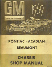1969 Pontiac Canadian Shop Manual Parisienne Laurentian Strato Acadian Beaumont