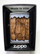 """Zippo   """"WOOD  BURNT  FLAME"""" -  NEU & ovp -  #895"""