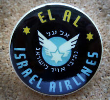 1959 EL AL ISRAEL Airlines Design Button Pin Back Modernist Mid-Century Deco #24