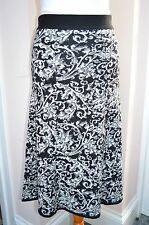 ARTIGIANO black and white knitted wool blend midi skirt - size S (10-12)