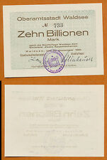 WALDSEE 10 Billion Mark 21.September 1923 Württemberg  Notgeld  Inflation K5424e