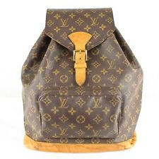 Auth LOUIS VUITTON Montsouris GM Backpack Purse Monogram M51135 Brown