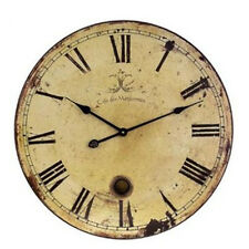 Retro Antique Wood Wall Clock Silent No Ticking Vintage Decorative Wall Clock