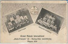 56430 -  LUXEMBOURG - VINTAGE  POSTCARD:  FOOTBALL MATCH 1909 - RARE!