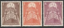 """Luxembourg 1957 Europa/""""PAX""""/Peace/Wheat/Grapes/Food/Industry 3v set (n42307)"""